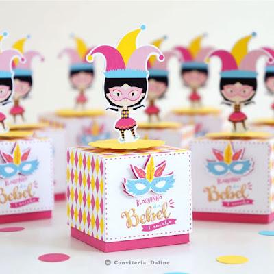 lembrancinha aniversario tema carnaval infantil