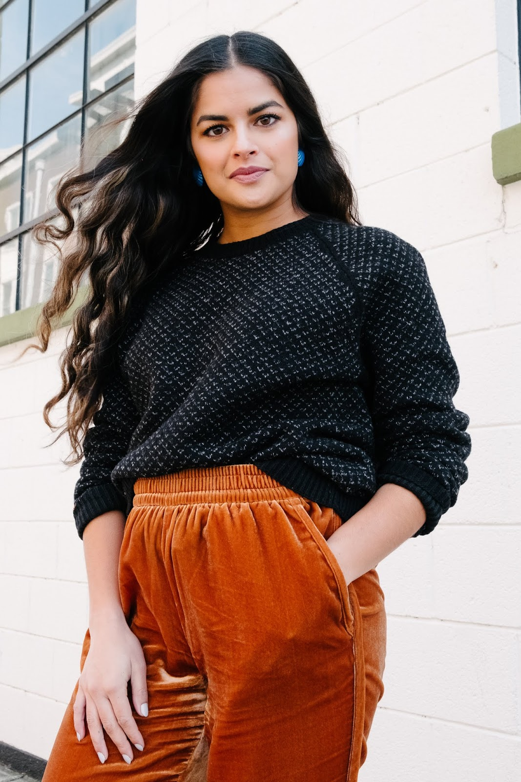 Priya the Blog, Nashville style blog, Nashville style blogger, Nashville fashion blog, Nashville fashion blogger, Madewell velvet joggers, how to wear velvet joggers, velvet joggers, Winter fashion, Winter wear to work outfit, Marimekko Target loafers,