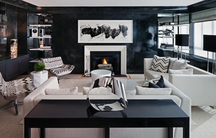 bob furniture living room harley davidson themed black and white livingroom/ kitchen | t a n y e s h