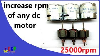 how to convert any low rpm dc motor into high rpm 775 dc motor