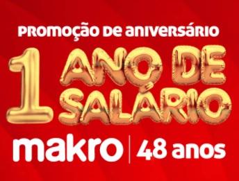 Cadastrar Promoção Makro Aniversário 2020 Um Ano de Salário - 48 Anos