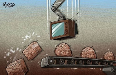 Meme de humor sobre la influencia de la televisión