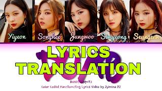 Dumb Dumb Lyrics in English   With Translation   – Somi