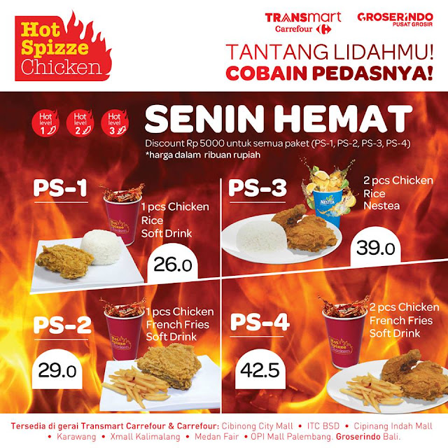 Carrefour HOT SPIZZE CHICKEN Promo Senin Hemat