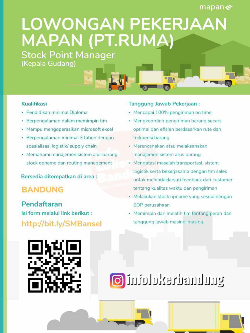 Lowongan Kerja Kepala Gudang Mapan PT.Ruma (Go-Jek) Group Bandung Juni 2019