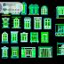 مجموعة بلوكات نوافذ اوتوكاد dwg
