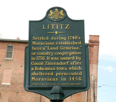 Lititz Pennsylvania Historical Marker