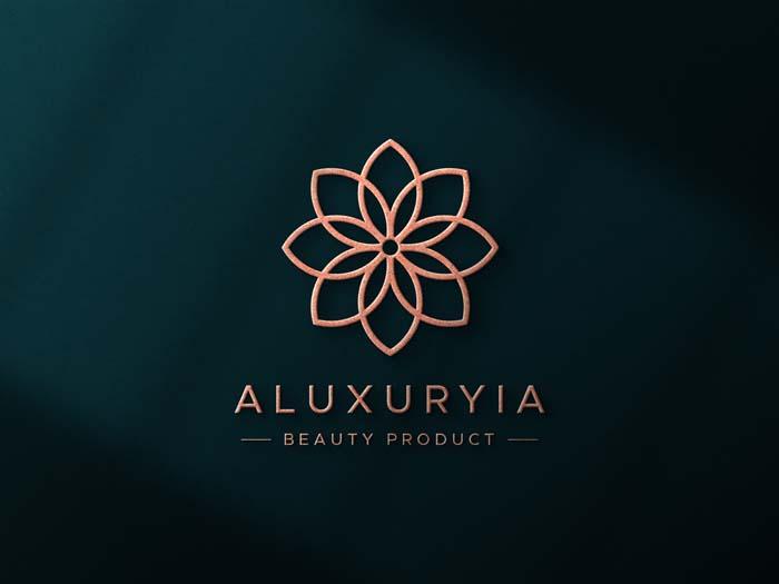 Luxury Logo on 3D Wall PSD Mockup