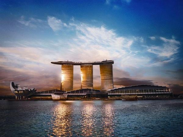 kiến trúc ấn tượng của Marina Bay Sand