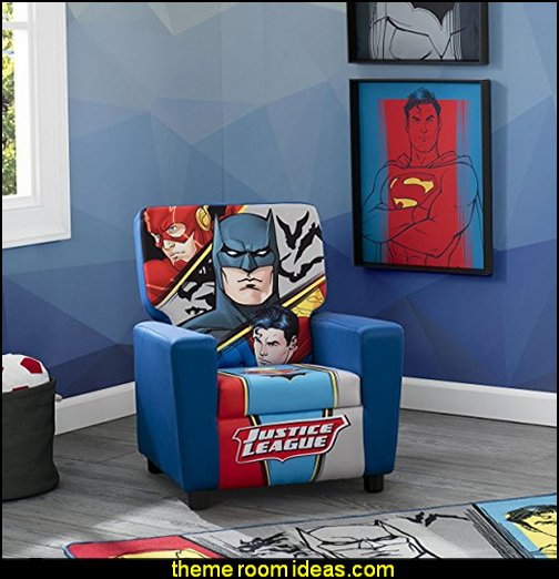 Dc Comics Justice League High Back Upholstered Chair Superhero Bedroom Ideas Themed Bedrooms