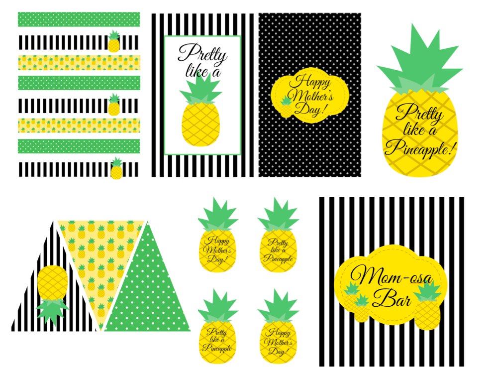 photograph relating to Printable Pineapple called Totally free Pineapple Themed Printables! - LAURAS minor Occasion