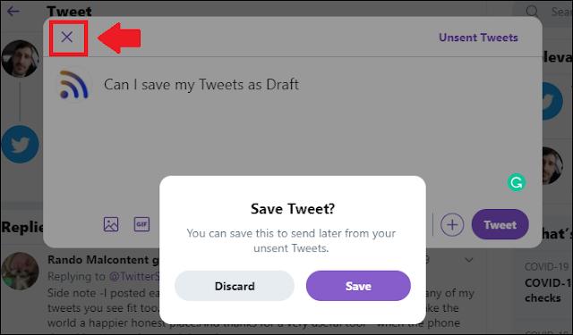 Save Draft Tweet.