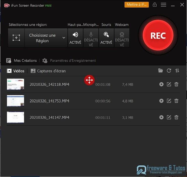 iFun Screen Recorder : un excellent logiciel pour enregistrer l'écran de votre ordinateur
