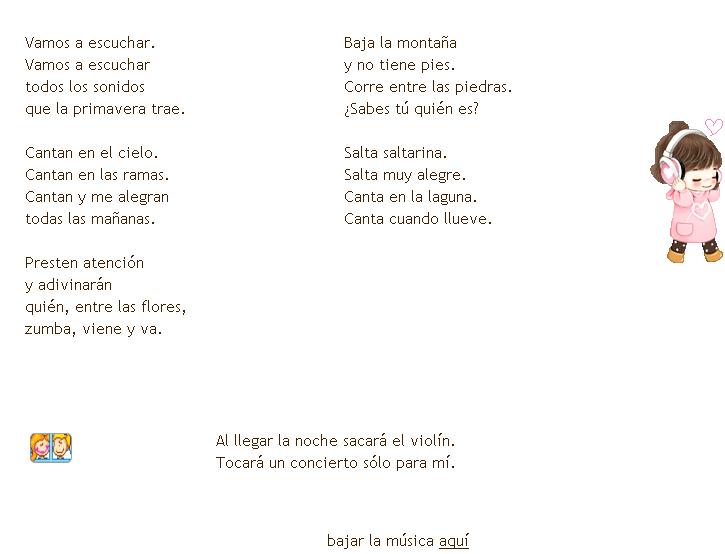 Material de Isaac para Educacion Especial: canción LOS