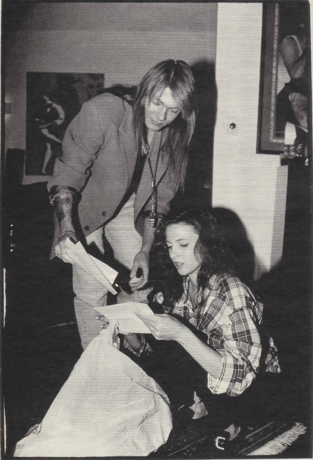 Axl Rose and Erin Everly (Sweet Child o' mine)