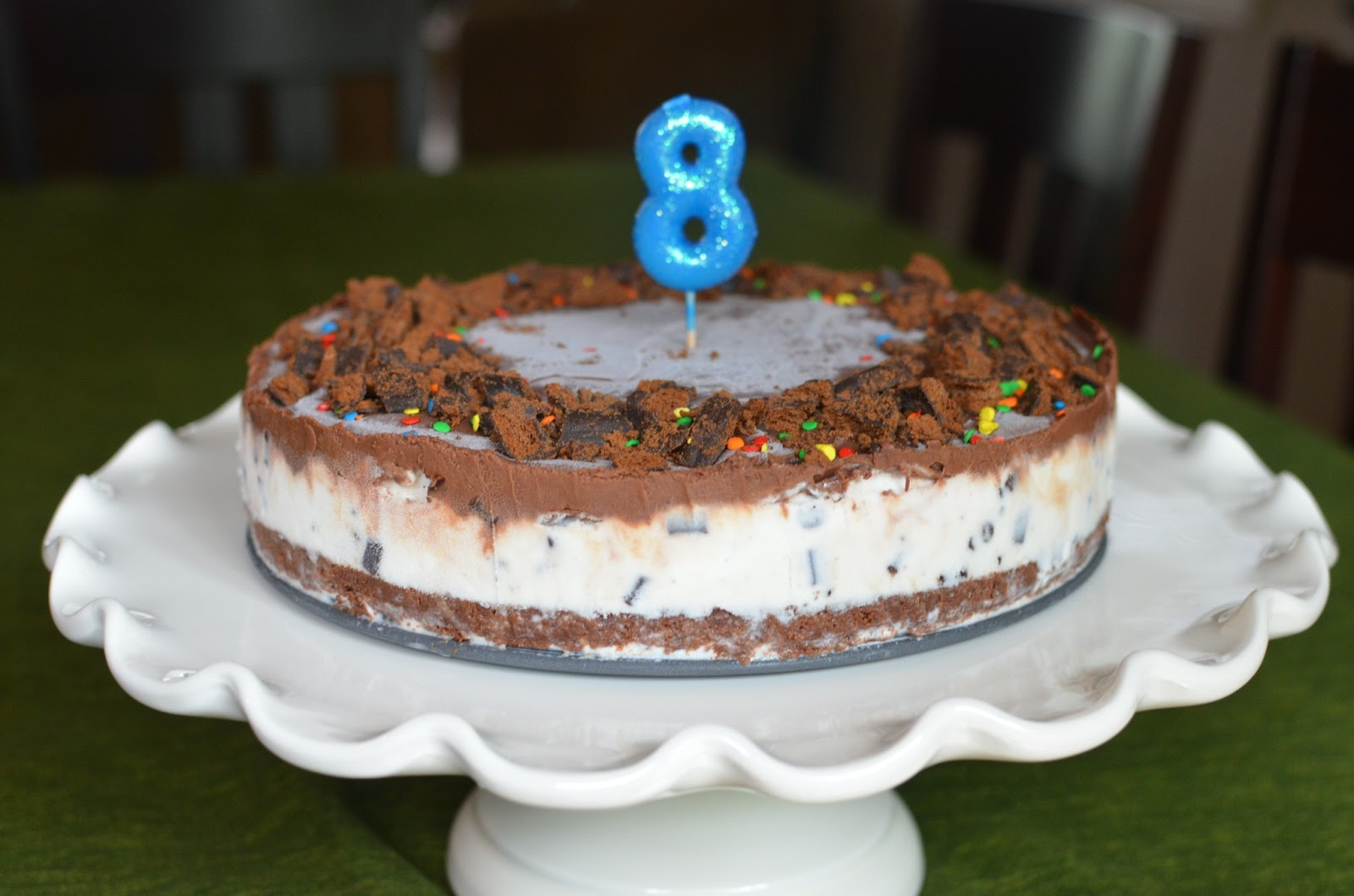 Playing With Flour Three Layer Brownie Mint Ice Cream Cake