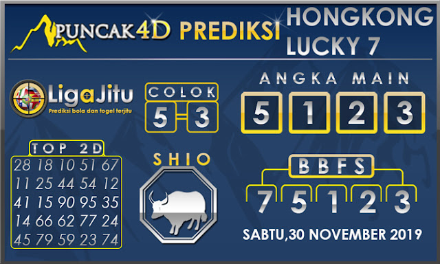 PREDIKSI TOGEL HONGKONG LUCKY7 PUNCAK4D 30 NOVEMBER 2019