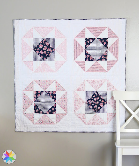 Lucky Star quilt pattern by Andy of A Bright Corner from her book, Fresh Fat Quarter Quilts - a fast and sweet baby quilt