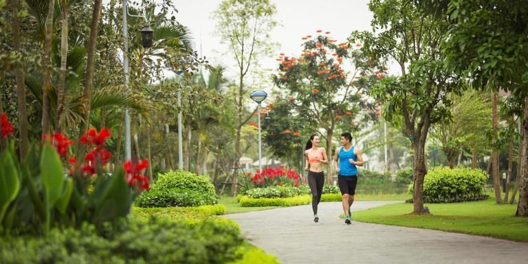 Công viên cây xanh tại dự án Panorana - Hoàng Mai