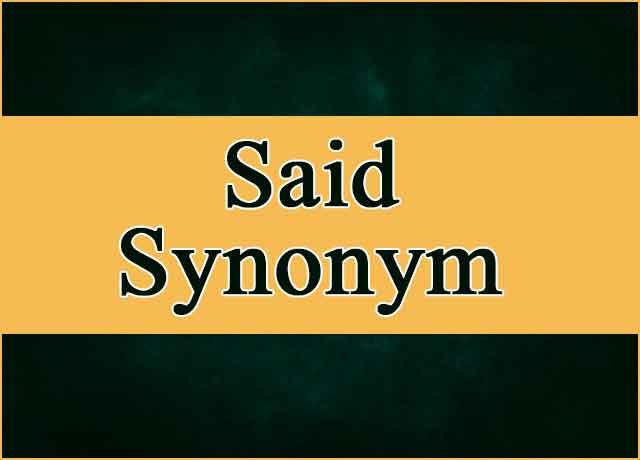 50 Bold Said Synonym