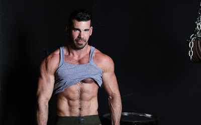 Shirtless Hairy Male Model Billy Santoro