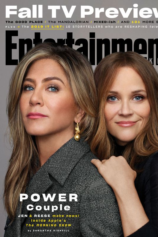 Jennifer Aniston and Reese Witherspoon on the Cover of Entertainment Weekly Magazine, October 2019