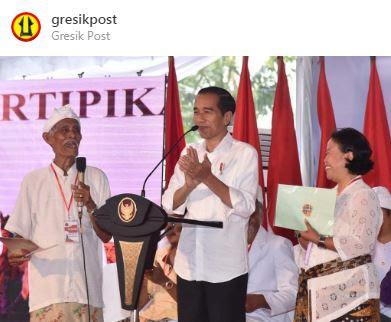 Jokowi Membagikan 3.000 lembar Sertifikat Hak Atas Tanah di Provinsi Bali