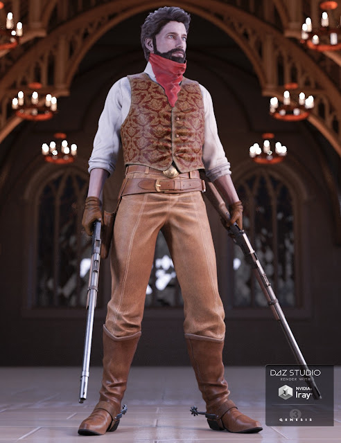Western Outlaw 2.0 for Genesis 3 Male