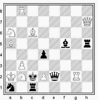 Problema de mate en 2 compuesto por Lars Larsen (Stela Polaris, 1972)