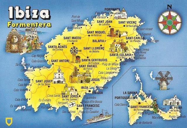 Aluguel de carro em Ibiza - Mapa