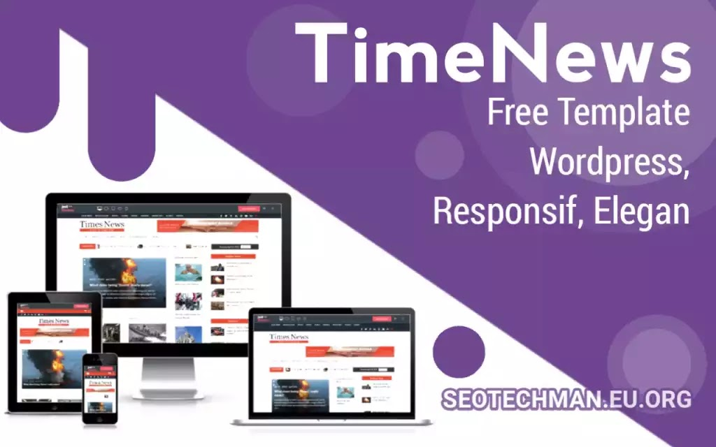 Free Wordpress Templates TimeNews, Responsive and Compatible  with WooCommerce