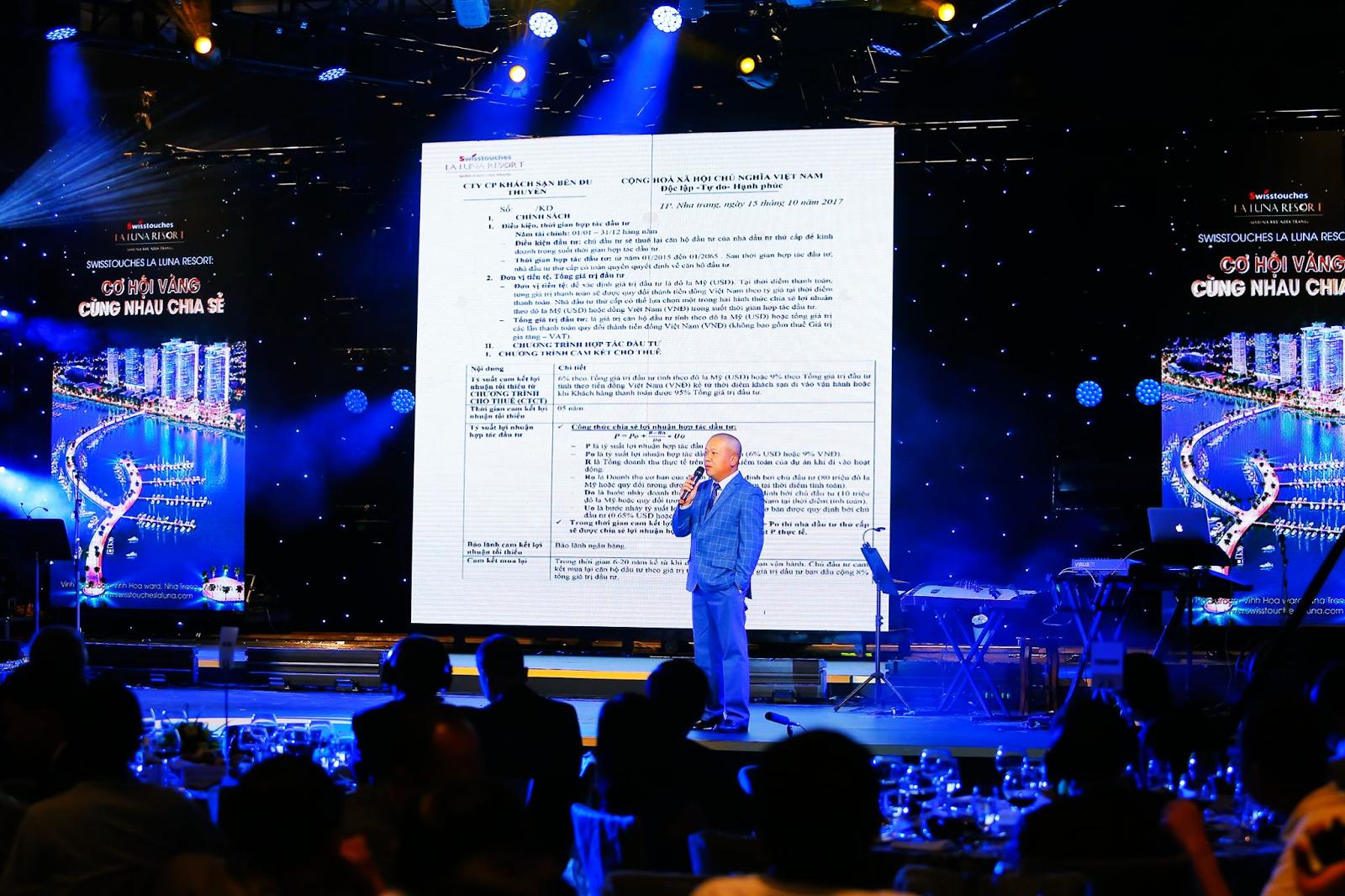 Ông Lã Quang Bình chia sẻ về chính sách và giá bán của La Luna Resort
