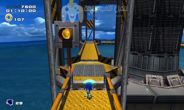 تحميل لعبة سونيك 2 Sonic Adventure للكمبيوتر
