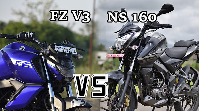YAMAHA FZ V3 AND PULSER NS 160 FULL DETAIL COMPARISON