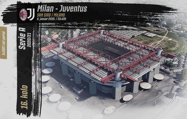 Serie A 2020/21 / 16. kolo / Milan - Juventus, srijeda, 20:45h