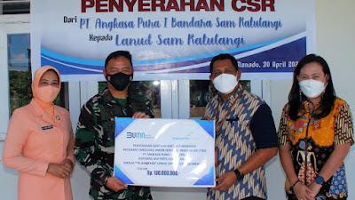 Bandara Sam Ratulangi Manado Serahkan Bantuan TJSL Kepada TK Angkasa Lanudsri