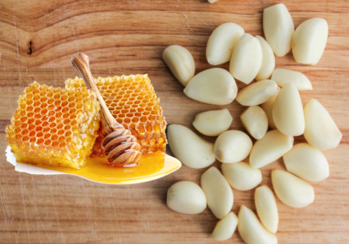 Honey and Garlic for swollen tonsils