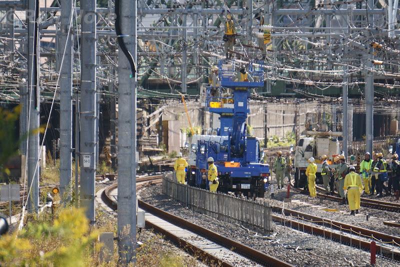 大井町駅寄りの工事の様子