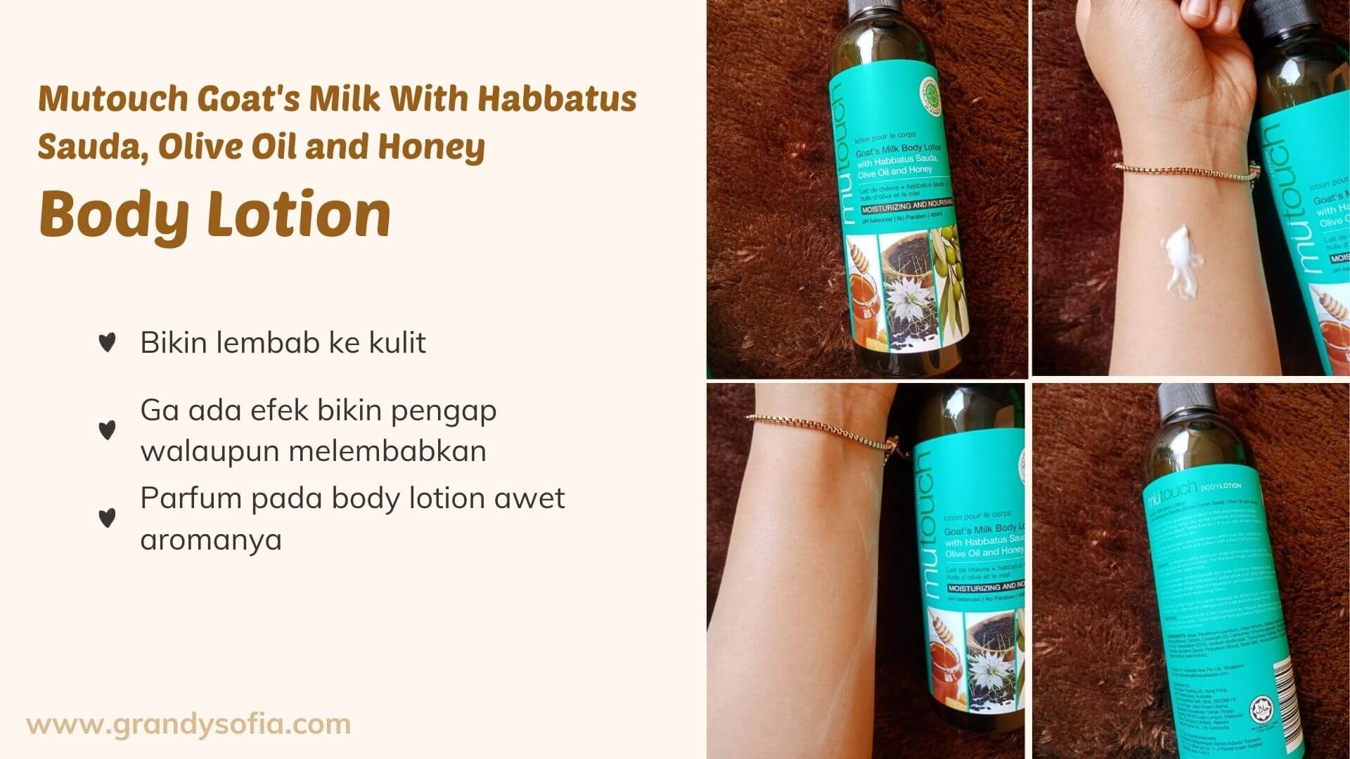 Mutouch Goat's Milk With Habbatus Sauda, Olive Oil and Honey halal produk, bodycare halal