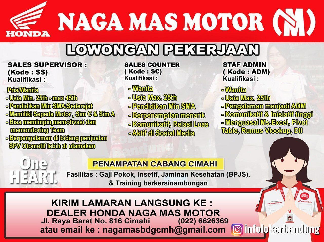 Lowongan Kerja Naga Mas Motor Cimahi Bandung April 2019