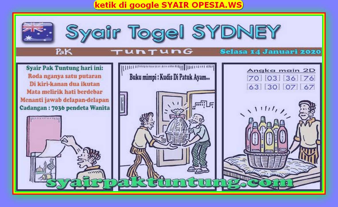 Kode syair Sydney Selasa 14 Januari 2020 129