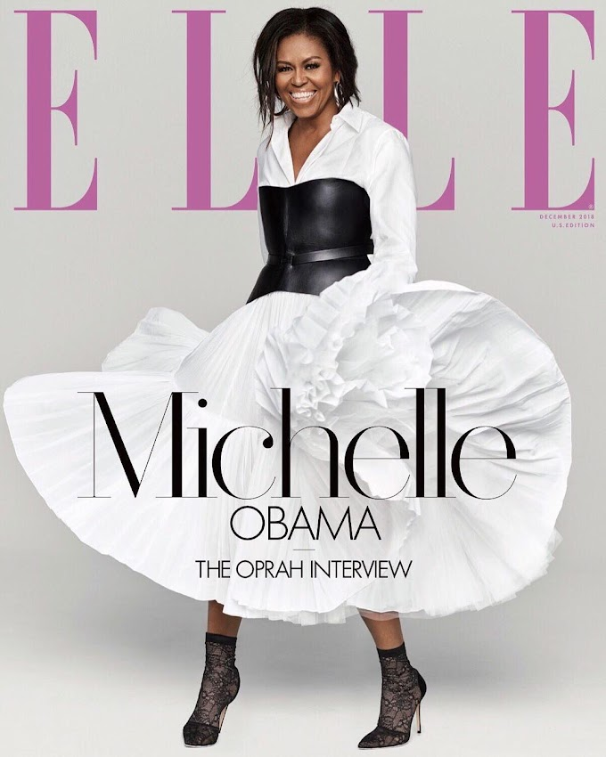 Oprah Winfrey interviews Michelle Obama as she covers ELLE Magazine's December Issue