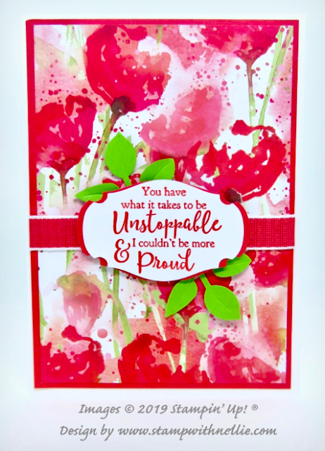 Nigezza Creates with Stampin' Up! and Stamp With Nellie & Peaceful Poppies