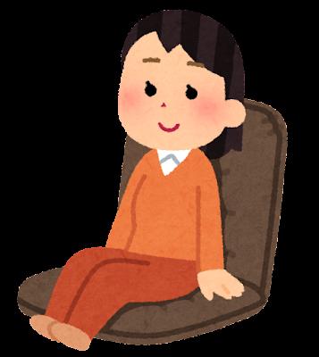 座椅子に座る人のイラスト(女性)