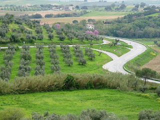 A view of one of the hillier, greener parts of  the Maremma region of southern Tuscany