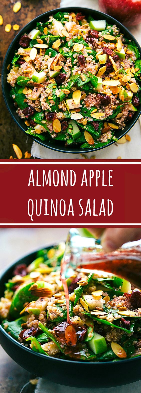easy almond apple quinoa salad recipe girls dish. Black Bedroom Furniture Sets. Home Design Ideas