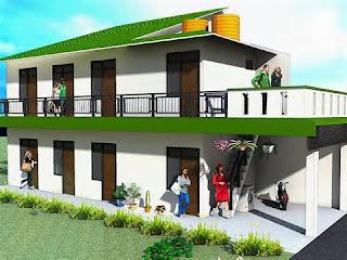 tips untuk desain rumah kost minimalis 2 lantai - cv