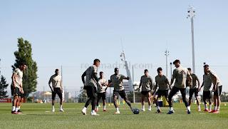 El Rey de Europa cerró la semana con un entrenamiento intenso en la Ciudad Real Madrid