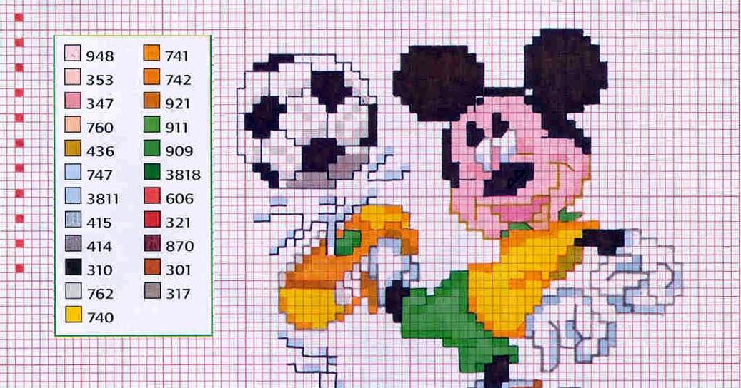 Daily Disneyana Disney S Soccer Mickey Mouse Cross Stitch
