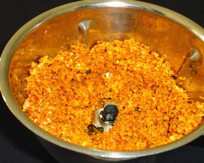 ground masala coarse paste